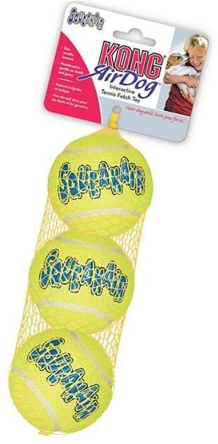 KONG Air Squeaker Tennis Ball 3 Pack Medium