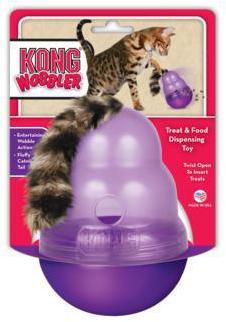 KONG Wobbler Cat Treat Dispenser