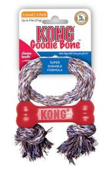 KONG Puppy Goodie Bone On Rope Extra Small