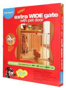Carlson Extra Wide Expandable Dog Gate 74x112x77cm