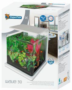 Superfish Wave 30 Aquarium White 30L