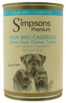 Simpsons Organic Adult Four Bird Casserole With Vegetables