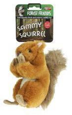 Animal Instincts Sammy Squirrel Plush Dog Toy Small