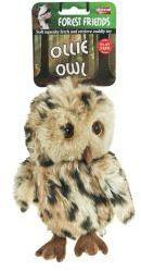 Animal Instincts Ollie Owl Plush Dog Toy Small