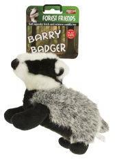 Animal Instincts Barry Badger Plush Dog Toy Small