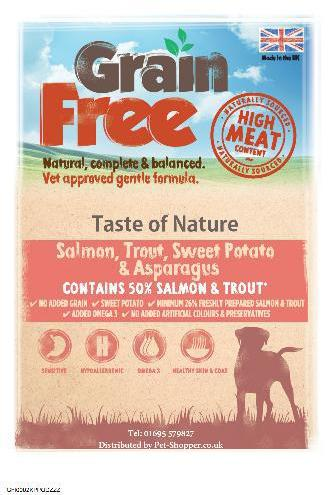 Taste of Nature Grain Free Salmon and Trout Dog Food 12kg
