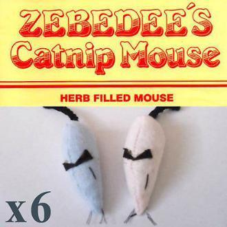 Zebedees's Mice Pink X 6