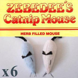Zebedee's Mice Blue X 6