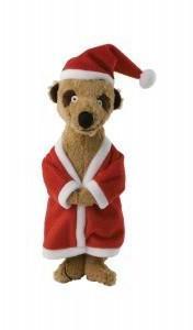 Christmas Santa Meerkat Xmas Simples Dog Toy From Pet Shopper