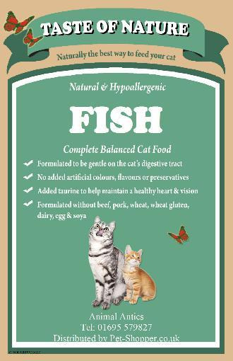 Taste Of Nature Fish and Rice Cat Food 2kg