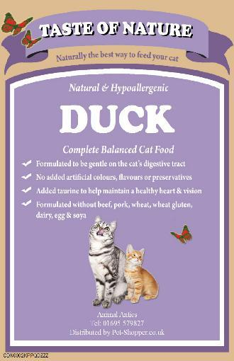 Taste Of Nature Duck and Rice Cat Food 300G