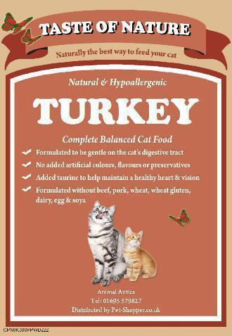 Taste Of Nature Turkey and Rice Cat Food 2kg