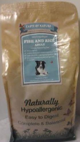 Taste of Nature Fish and Rice Dog Food 2kg