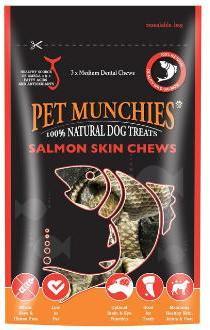 Pet Munchies Salmon Skin Chews 90g Dog Treats