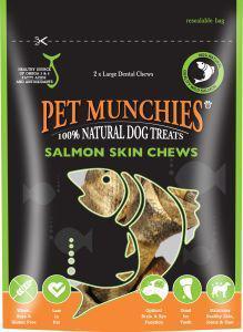 Pet Munchies Salmon Chews Large 125g