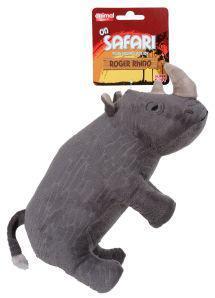 Animal Instincts On Safari Rhino Dog Toy
