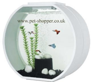 Deco O 20 Round Aquarium 20 Litre White