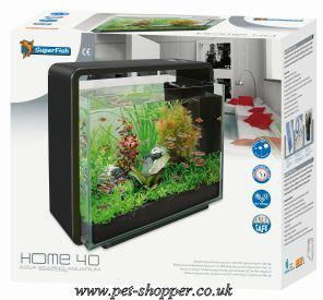 superfish home 40 aquarium black 40 litre from pet shopper. Black Bedroom Furniture Sets. Home Design Ideas