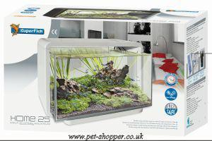 Superfish Home 25 Aquarium White 25 Litre From Pet Shopper