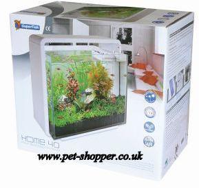 superfish home 40 aquarium white 40 litre from pet shopper. Black Bedroom Furniture Sets. Home Design Ideas