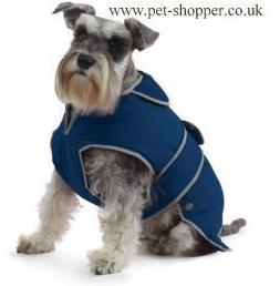 Muddy Paws Stormguard & Fleece Lining Dog Coat Blue Medium
