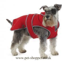 Muddy Paws Stormguard & Fleece Lining Dog Coat Red Small