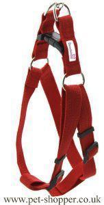 Doodlebone Nylon Harness Red Medium 40-60cm