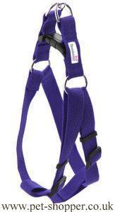 Doodlebone Nylon Harness Purple Large 50-75cm