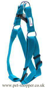 Doodlebone Nylon Harness Cyan Small 30-50cm