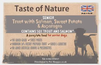 Taste of Nature Grain Free Senior Dog Food 12kg