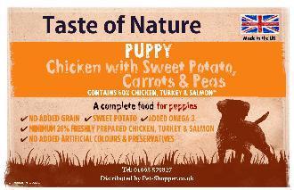 Taste of Nature Grain Free Puppy Food 2kg