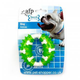 All For Paws Dental Dog Chews Ring Green Dog Toy
