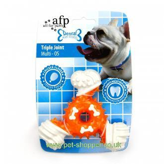 All For Paws Triple Joint Dog Toy Orange