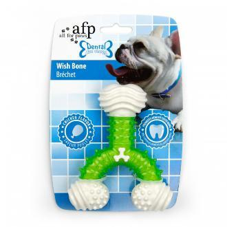All For Paws Dental Wish Bone Dog Toy Green