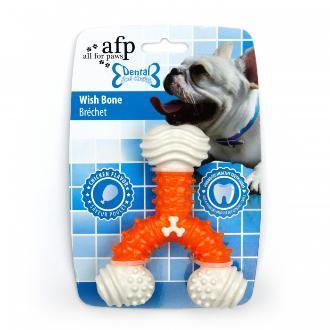 All For Paws Dental Wish Bone Dog Toy Orange