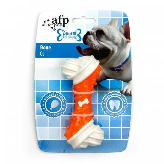 All For Paws Dental Bone Dog Toy Orange