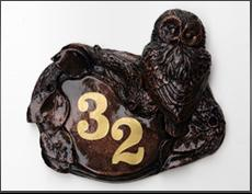 Owl House Number Sign