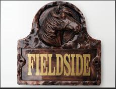 Horse House Name Sign