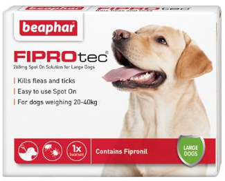 Fiprotec Spot On Flea treatment for large Dogs 20-40kg