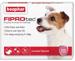 Fiprotec Spot On Flea treatment for Small Dogs 5-10kg