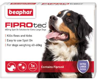 Fiprotec Spot On Flea treatment for Extra large Dogs 40-60kg