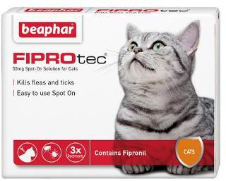 Fiprotec Spot On Flea treatment for Cats 3 pipettes