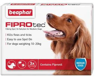 Fiprotec Spot On Flea treatment for Medium Dogs 10-20kg 3 pipettes