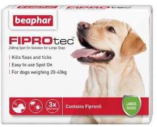 Fiprotec Spot On Flea treatment for large Dogs 20-40kg 3 pipettes