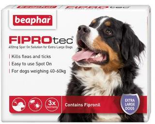 Fiprotec Spot On Flea treatment for Extra large Dogs 40-60kg 3 pipettes