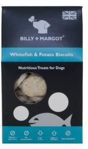 Billy And Margot Whitefish & Potato Biscuit Dog Treats 100g