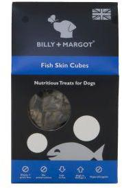 Billy And Margot Fish Skin Cubes Dog treats 60g