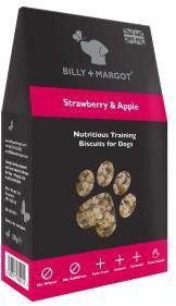 Billy And Margot Apple And Strawberry Mini Biscuits 100g
