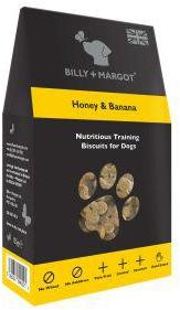 Billy And Margot Honey And Banana Training Biscuits 125g