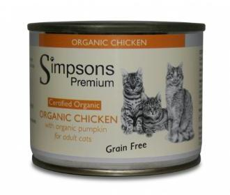 Simpsons Organic Chicken with Organic Pumpkin Cat Food